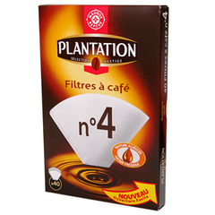 Filtres cafe n°4 Plantation x40