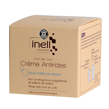 Creme antirides Inell soin jour Ts types peaux 50ml