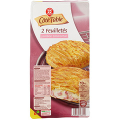 Feuilletes Cote Table Jambon emmental 2x140g