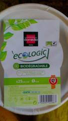 Domédia, Ecologic - Bols ronds 400 ml D15 cm, biodégradables, le paquet de 25