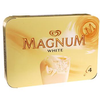 Magnum blanc x4 -480ml - Tous les produits glaces - Prixing