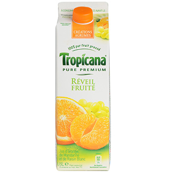 Jus Tropicana reveil fruite Orange manda. raisin 1l