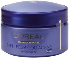 Soin de nuit repulpeur collagene DERMO EXPERTISE, 50ml