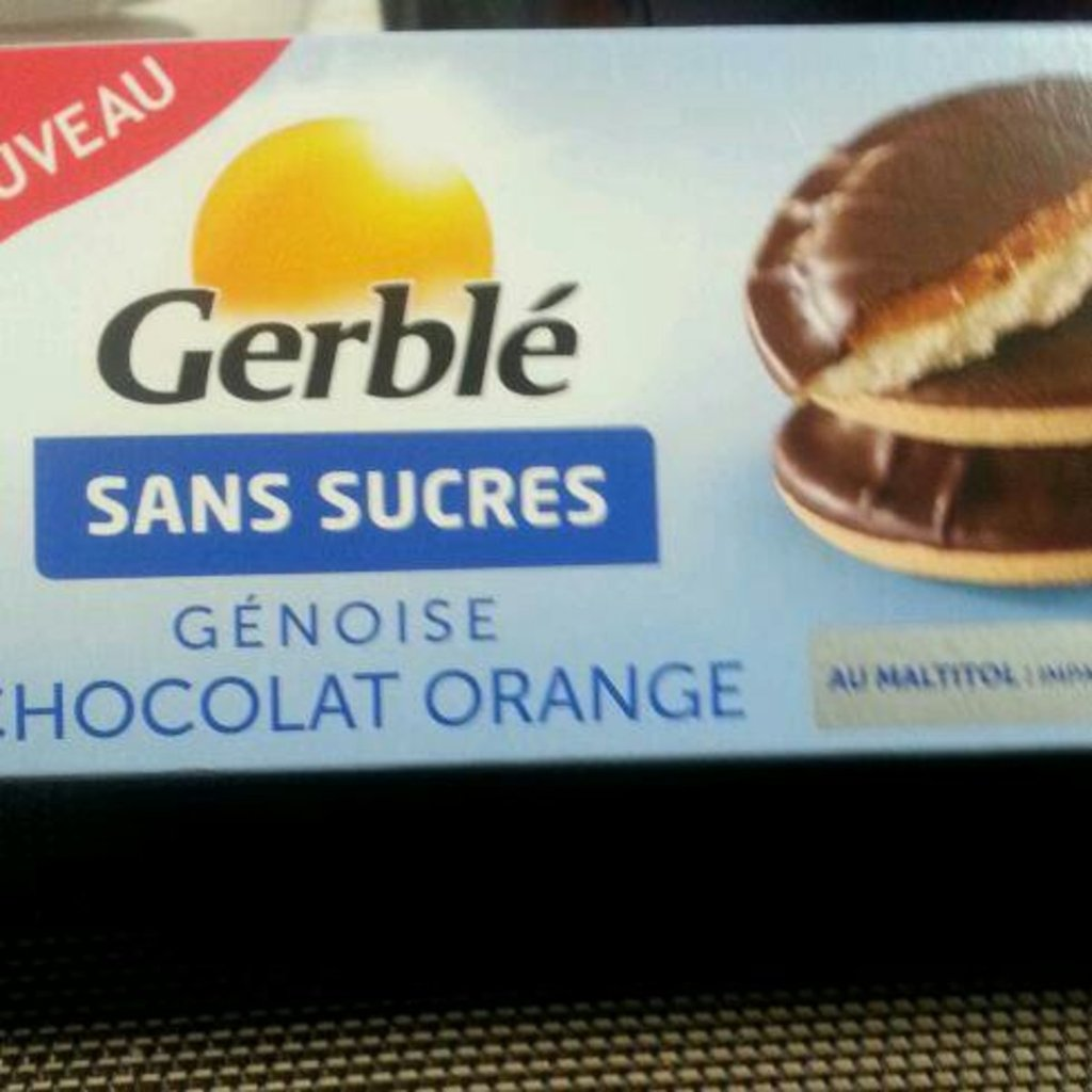Biscuits génoise chocolat orange s/sucres Gerblé