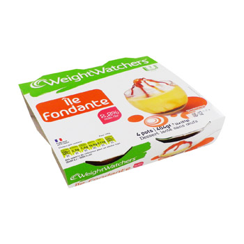 DESSERT WEIGHT WATCHERS ILE FONDANTE 100GX4