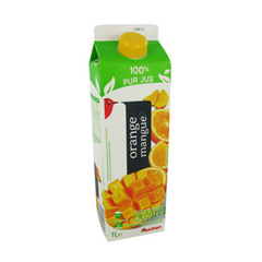 Auchan jus d'orange mangue 1l