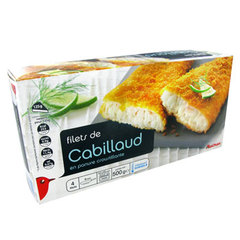 Auchan filet de cabillaud 500g