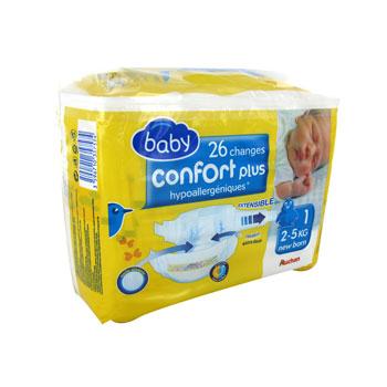 Auchan Baby Changes Confort Newborn 25kg X26 Taille 1 Tous Les