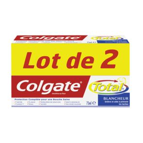 Colgate dentifrice total blancheur 2x75ml