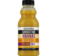 Ananas, mangue et fruits de la passion, smoothie