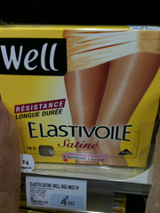 Collant elastivoile WELL, beige, taille 4