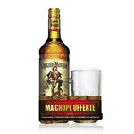Captain Morgan rhum 35° -70cl + chope