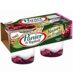 Panier Yoplait nature sur fruits cerise 2x140g