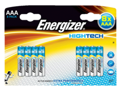 8 Piles alcalines High Tech LR03 ENERGIZER