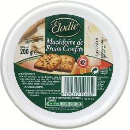 Macedoine de fruits confits, la boite de 200g