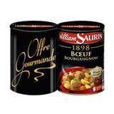 boeuf bourguignon william saurin 2x400g offre gourmande