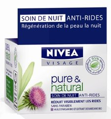 Soin de nuit anti-rides - Pure & Natural, le pot de 50ml