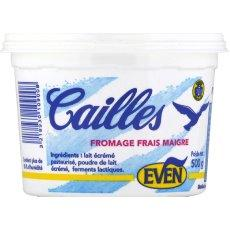Fromage frais maigre Cailles EVEN, 0%MG, 500g