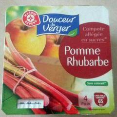 Compote Pomme Rhubarbe Douceur du Verger 4x100g
