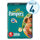 Pampers baby dry midi pack change x37 taille 4