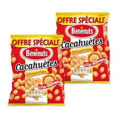 Benenuts cacahuetes grillees salees 2x220g os