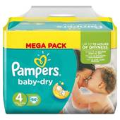 Pampers babydry couches bébé megapack t4 maxi x86