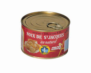 Noix de St Jacques au naturel Jacq
