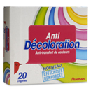 Auchan lingette anti decoloration x20