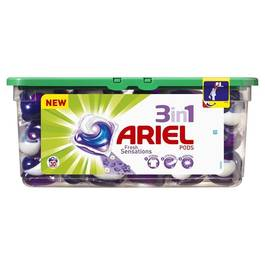 Lessive écodose Ariel power Fresh sensation purple - x30