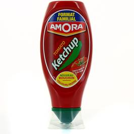 Amora ketchup top down 565g