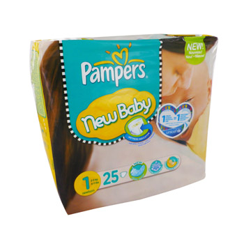 Couches Pampers New Baby T1, 2-5kg x25