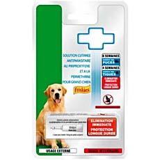 Solution cutanee anti parasites pour grand chien FRISKIES, 1 dose