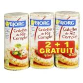 Galettes Bjorg Riz complet 3x130g