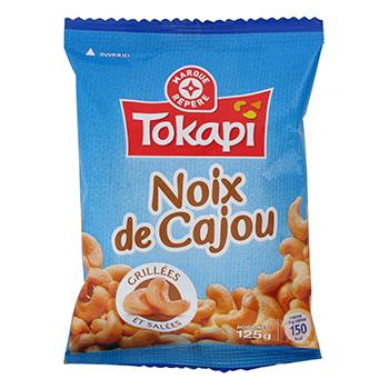 Noix cajou tokapi grillees et salees 125g tous les produits cacahu tes autres graines prixing - Noix de cajou grillees salees ...