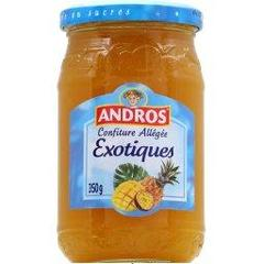 Confiture allegee de fruits exotiques ANDROS, 350g