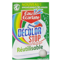 Decolor Stop Lingette anti-decoloration reutilisable, efficace jusqu'a 20 lavages, l'unite