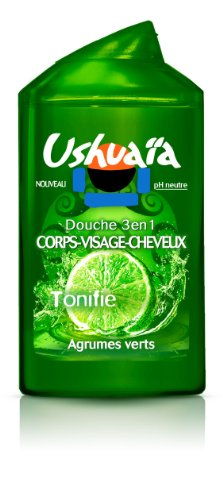 Ushuaia douche/shampooing/visage homme agrumes 250ml