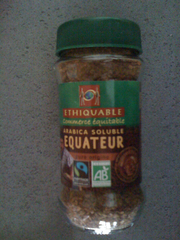 Cafe soluble bio arabica d'Equateur ETHIQUABLE, 85g
