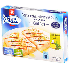 Colin Grille Peche Ocean Herbes huile d'olive x2 250g
