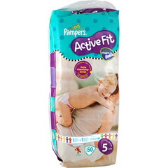 Pampers active fit drugbag junior x 50