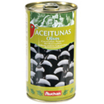Auchan olives cacerenas noires denoyautees 350g