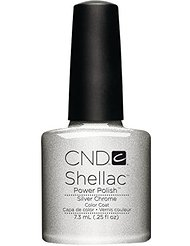 CND Shellac Silver Chrome,Gel-Vernis à Ongles pour Protection de UV 7.3 ml