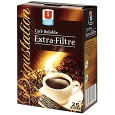 Cafe soluble U, 25 sachets, 50g