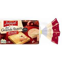 Jacquet, Les grands toasts briche, ideal pour le foie gras , le paquet de 350 gr