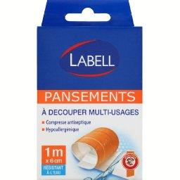 Pansements a decouper multi-usages, compresse antiseptique, le rouleau de 1m x 6cm