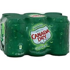 Canada DRY Ginger Ale, 6x33cl