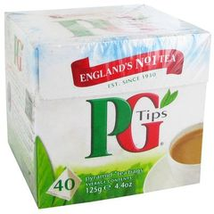The anglais PG Tips, 40 sachets, 125g