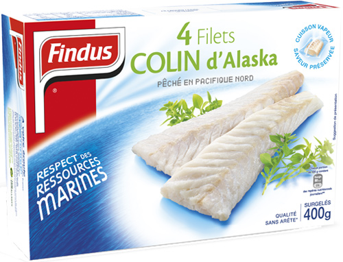 Filets de colin d'Alaska FINDUS, 4x100g