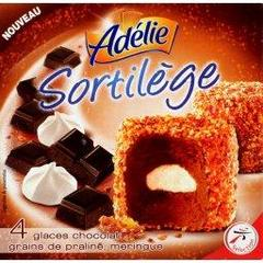 Sortilege - Dome glace chocolat grains de praline et meringue, la boite de 4 - 520ml