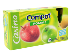 Compote pomme gourdes refermables